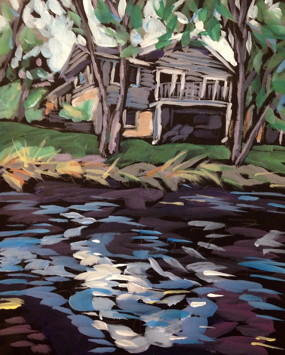 """Nov 10, The Creek"" original fine art by Kat Corrigan"