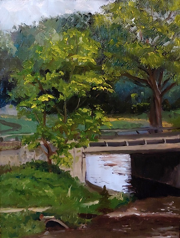 """Buffalo Creek Bridge Study"" original fine art by Edward Watson"