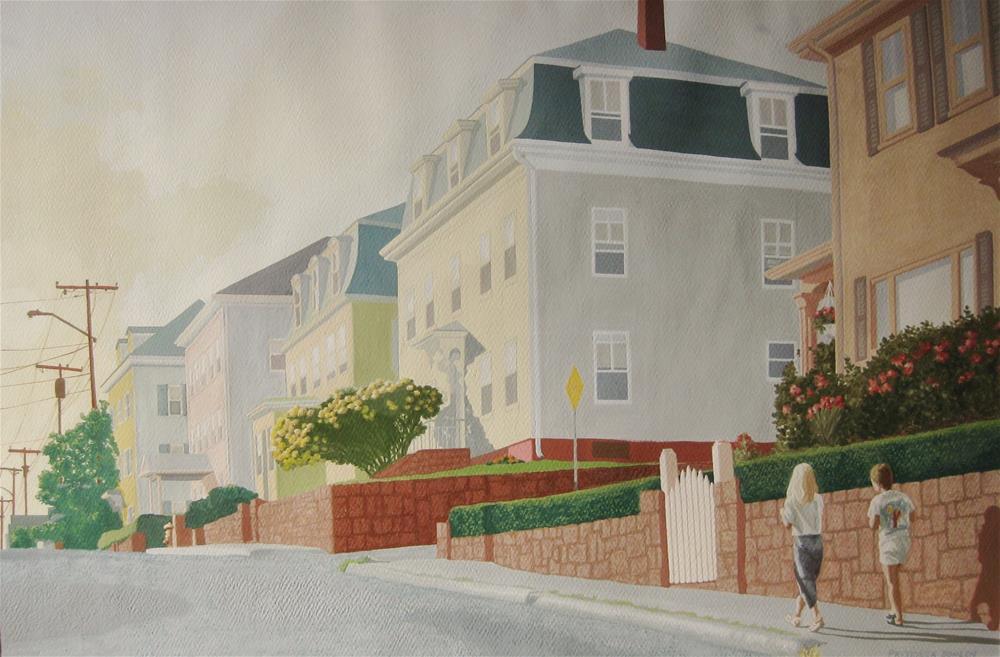 """""""Home for Supper"""" original fine art by Priscilla Bohlen"""