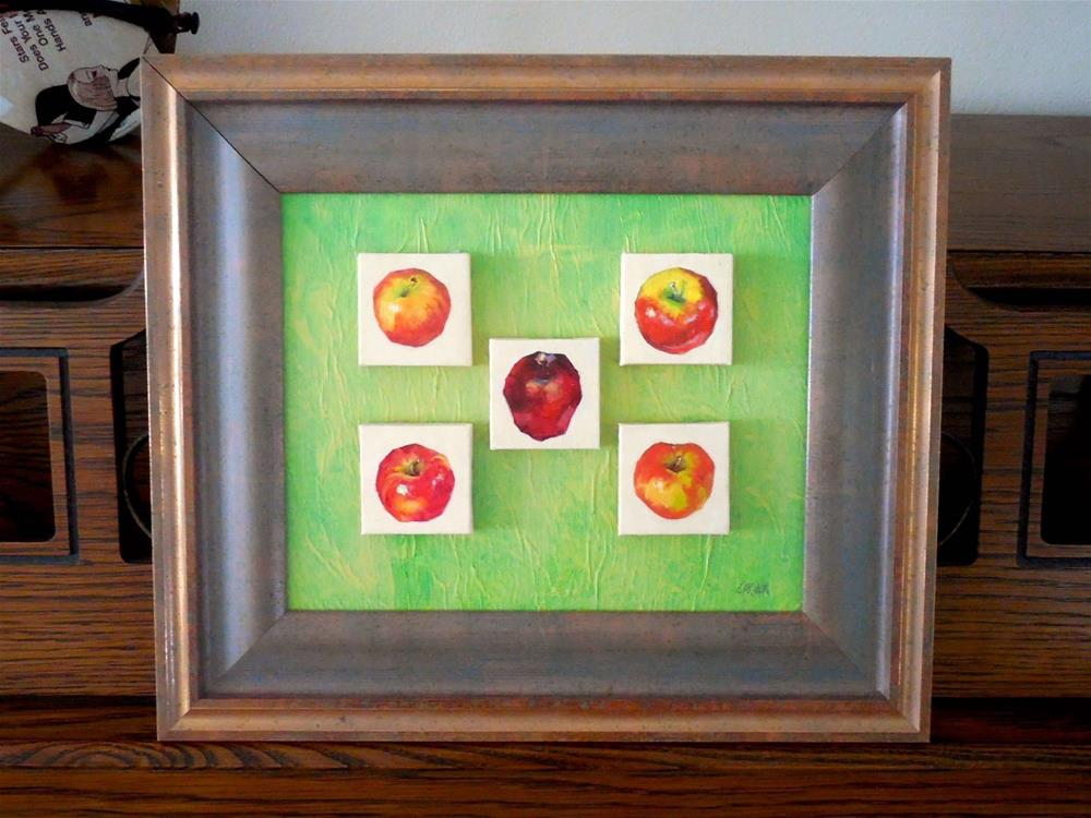 """""""Apple Collection, 8x10 Oil on Canvas, Mounted and Framed to 11x14"""" original fine art by Carmen Beecher"""