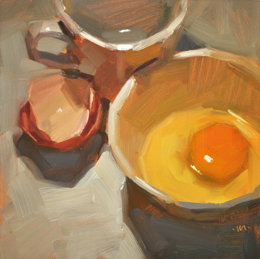 """""""Egg-centric"""" original fine art by Carol Marine"""