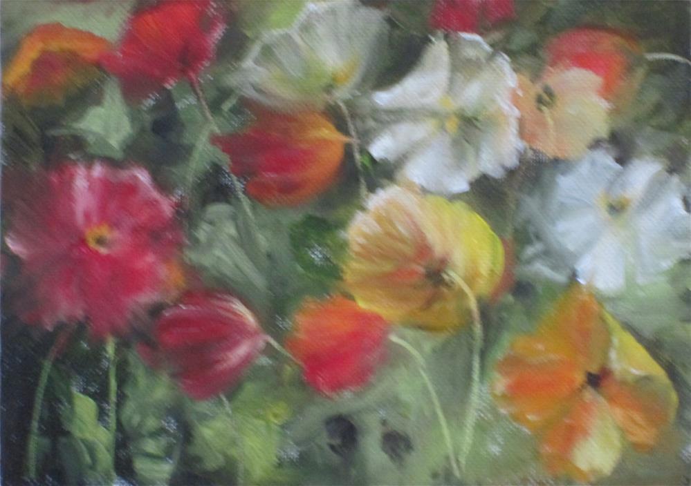"""Poppies"" original fine art by Barbara Wagner"