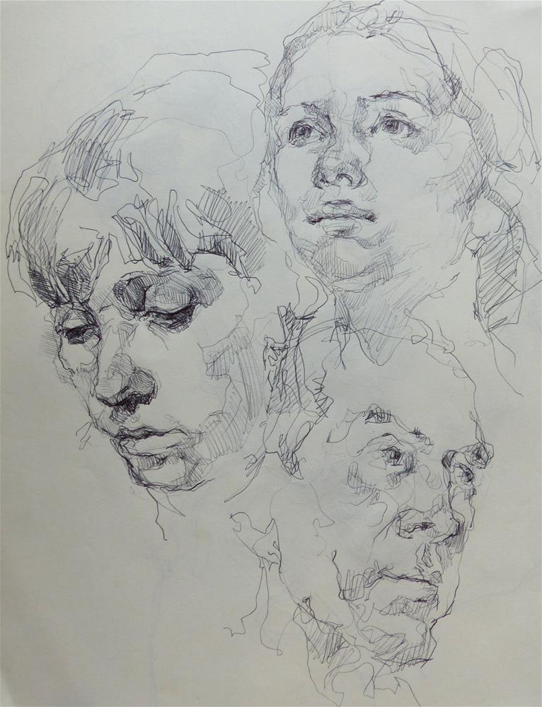 """sketchbook94"" original fine art by Katya Minkina"