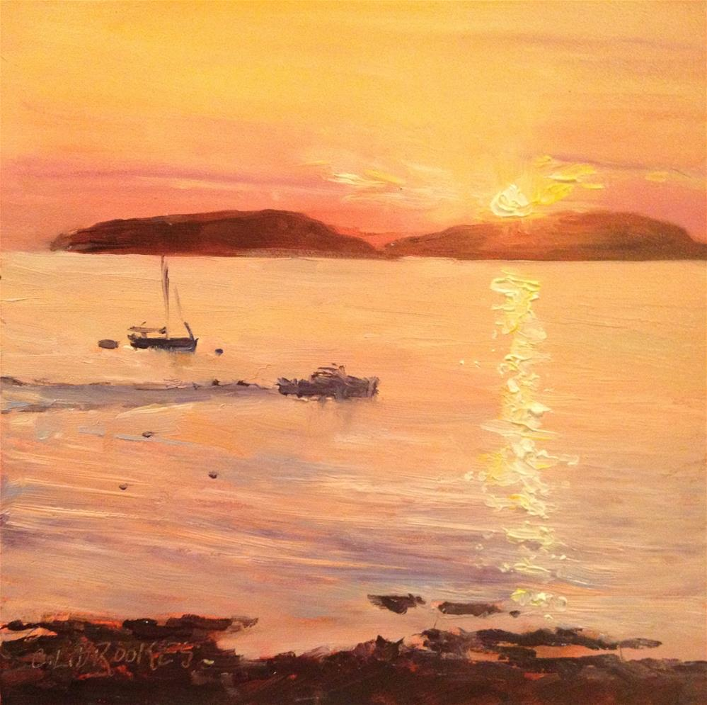 """Heading Out, Bar Harbor"" original fine art by Claudia L Brookes"