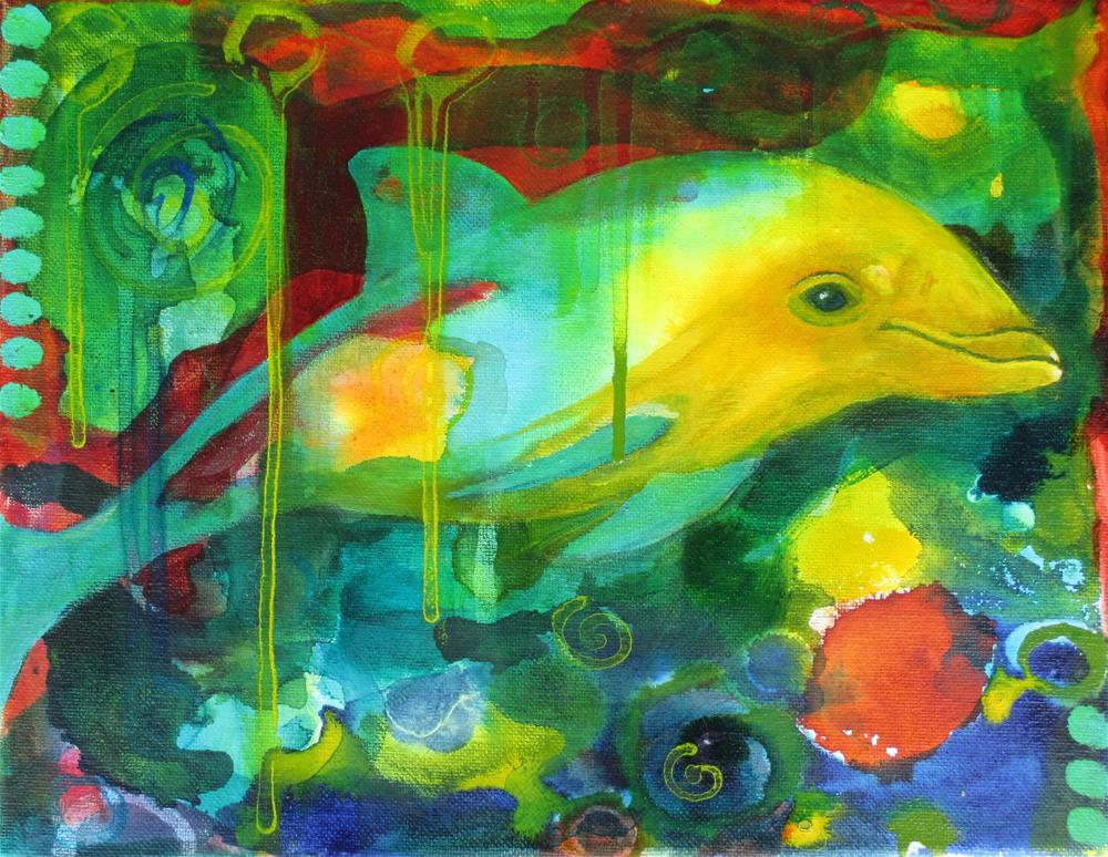 """""""Song of Happiness"""" original fine art by Silke Powers"""