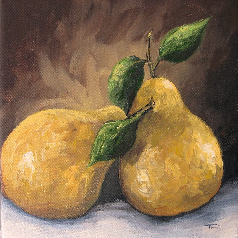 """Two Golden Pears"" original fine art by Torrie Smiley"