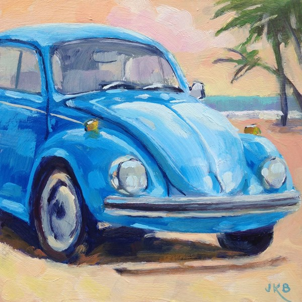 """Beach Bug"" original fine art by Jeanne Bruneau"