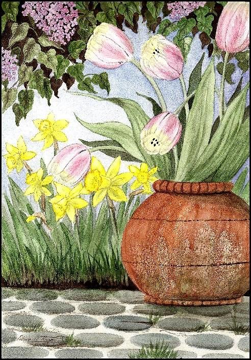 """""""In the Garden"""" original fine art by Patricia Ann Rizzo"""