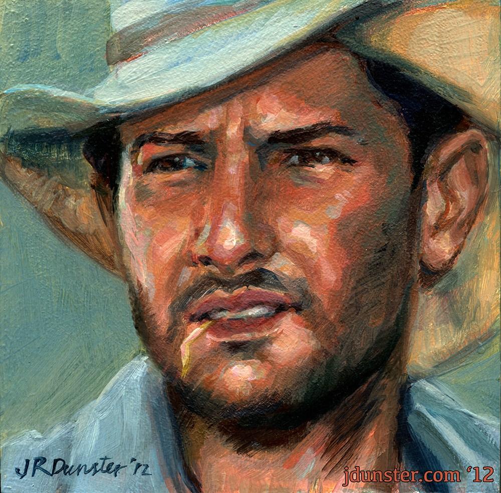 """""""Farmhand"""" original fine art by J. Dunster"""
