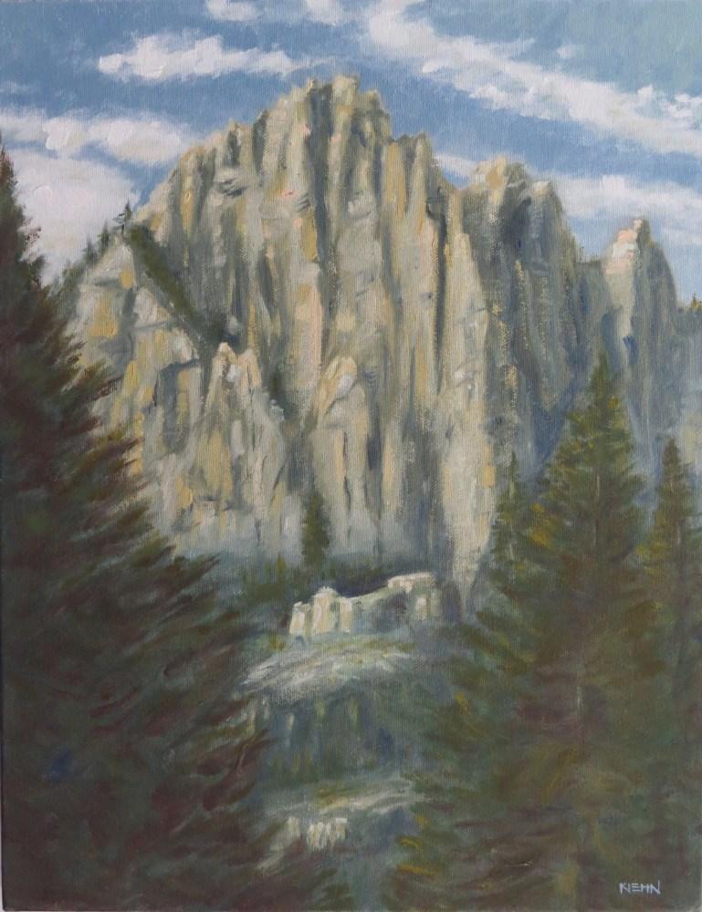 """""""Castle Crags"""" original fine art by Richard Kiehn"""