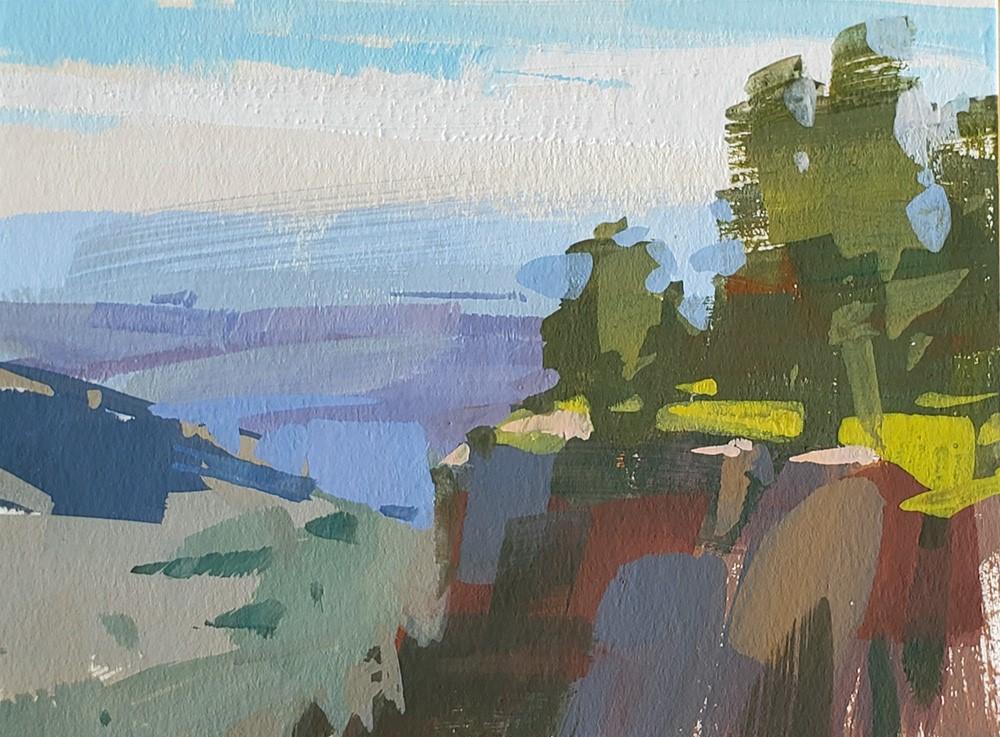 """Blodgett Overlook"" original fine art by Carol Marine"