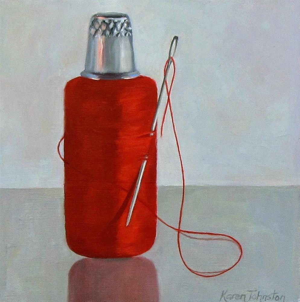 """""""Armed and Dangerous"""" original fine art by Karen Johnston"""