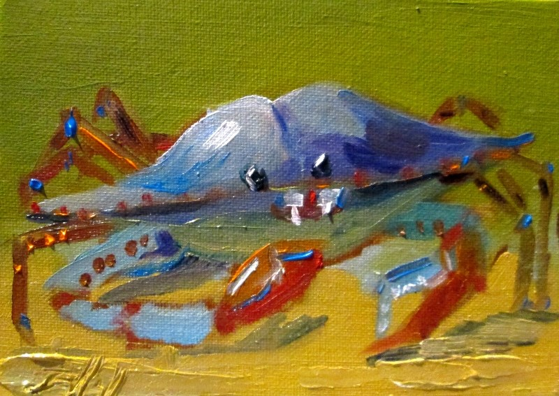 """Blue Crab"" original fine art by Delilah Smith"