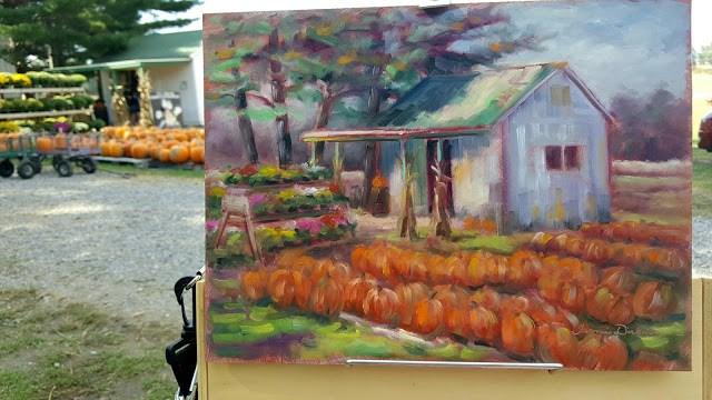 """Pumpkin Patch"" original fine art by Tammie Dickerson"