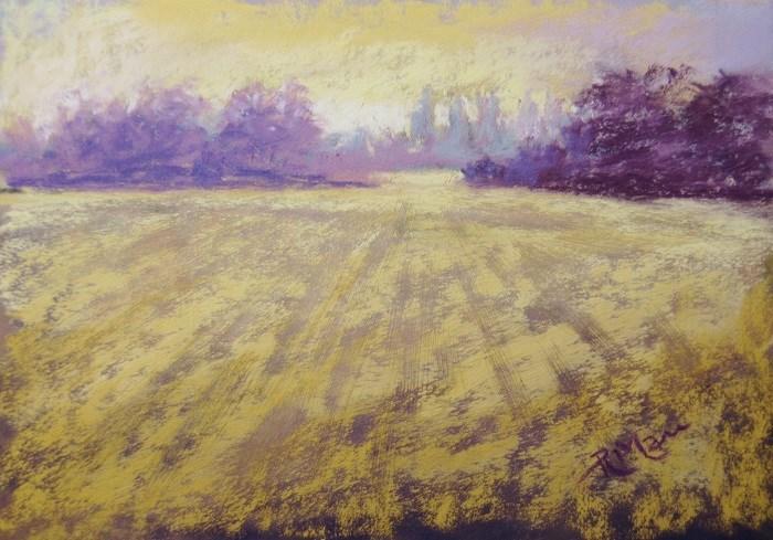 """Frosty Morning Memory"" original fine art by Ruth Mann"