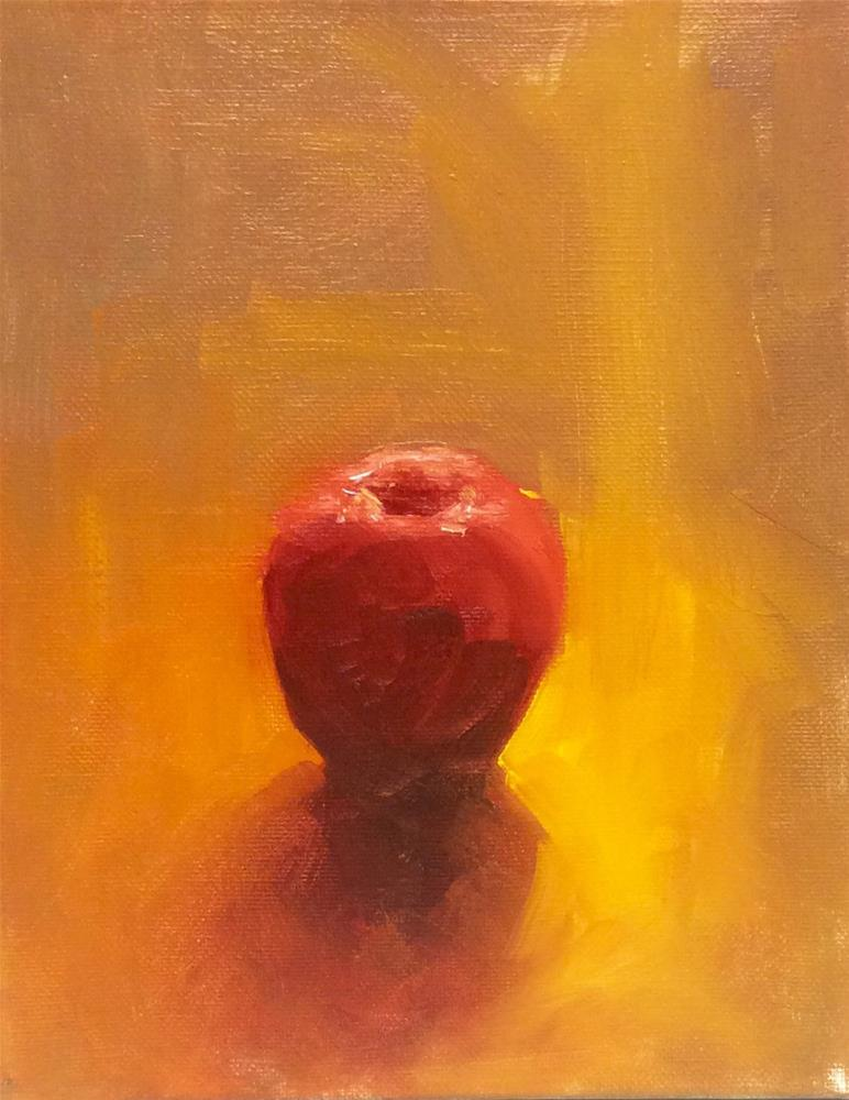 """Study of warm back lit apple"" original fine art by Lori Jacobs - Farist"