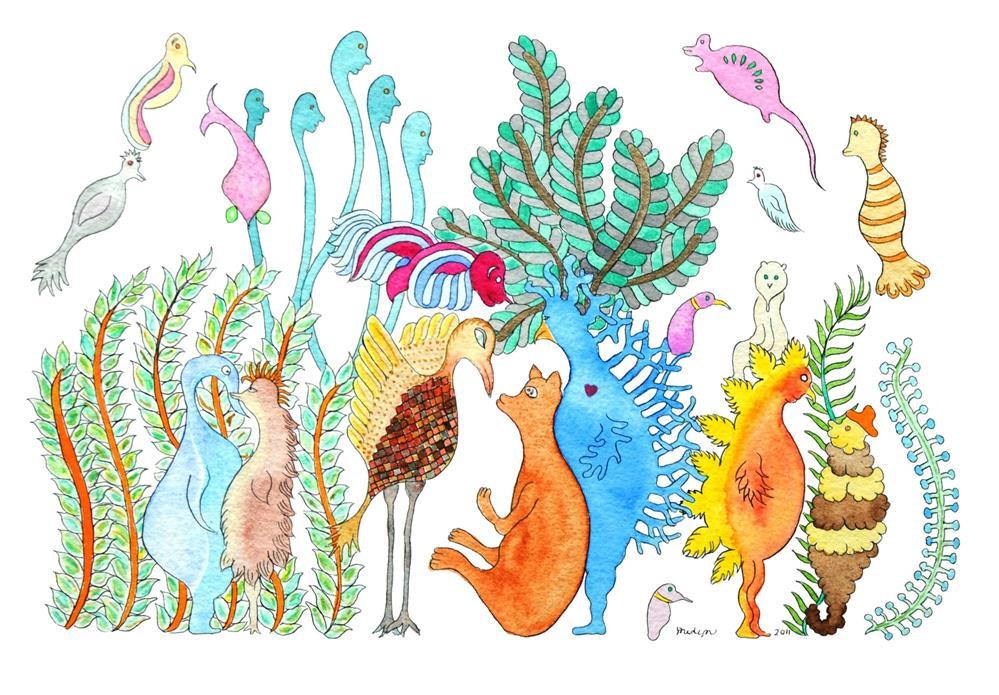 """Birds of Paradise"" original fine art by Susan Medyn"