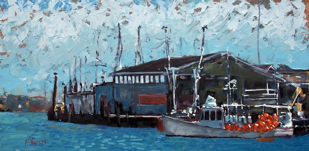 """""""The Wharf"""" original fine art by Rick Nilson"""