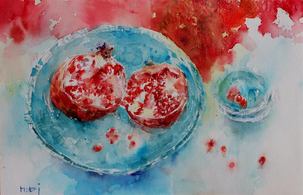 """Dream to be fishes."" original fine art by Midori Yoshino"