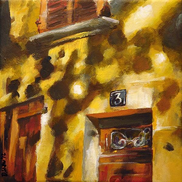 """0445 Number3 - Nummer 3"" original fine art by Dietmar Stiller"
