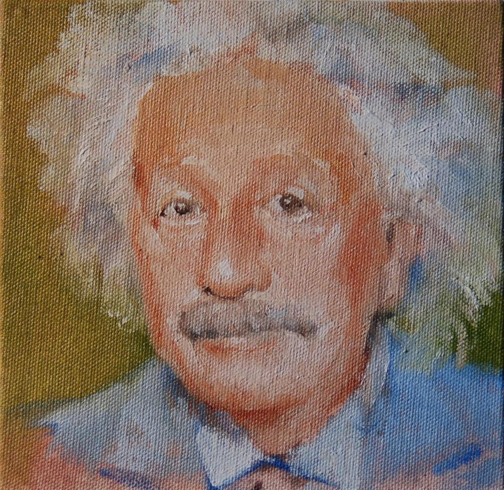 """Albert Einstein"" original fine art by Mark DeBak"
