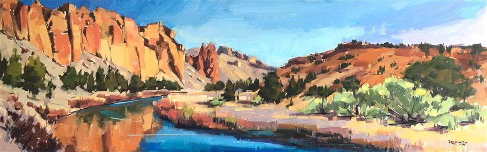 """Smith Rocks Again"" original fine art by Cathleen Rehfeld"