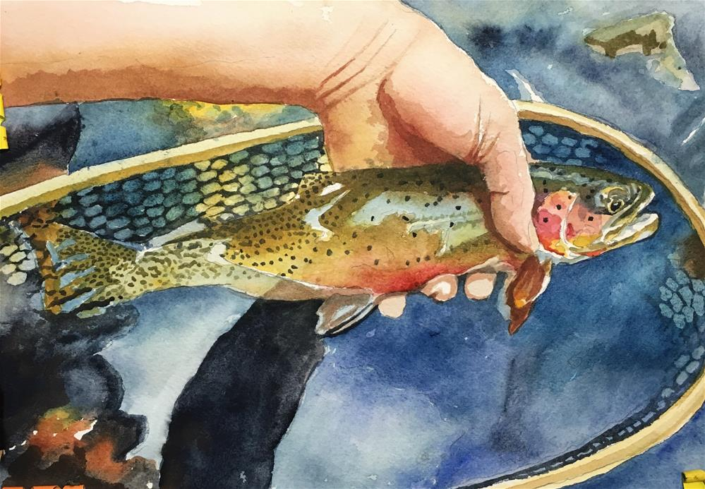 """""""Cutty Catch and Release"""" original fine art by Andy Sewell"""