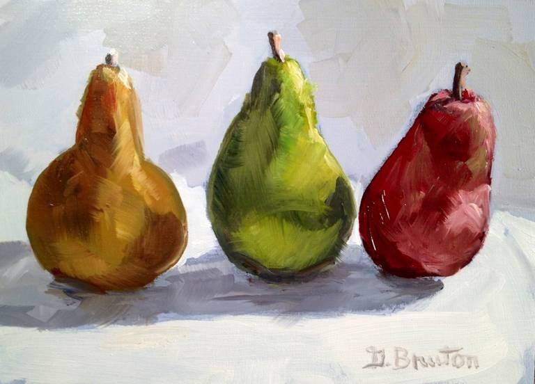"""Pear Trio"" original fine art by Gary Bruton"