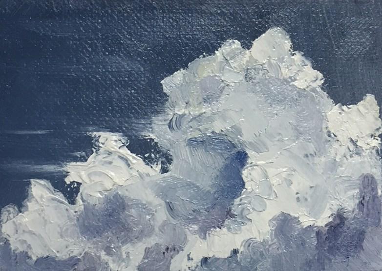 """Clouds 7"" original fine art by Elizabeth Dawn Johnston"