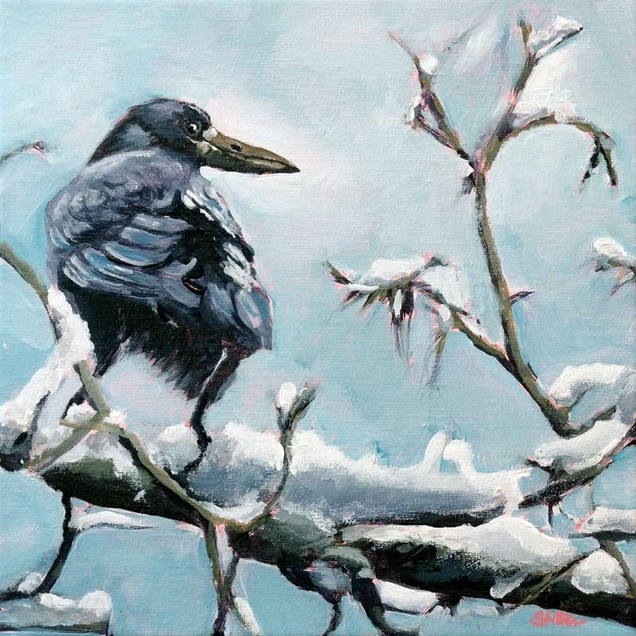 """1618 Trick Crow"" original fine art by Dietmar Stiller"