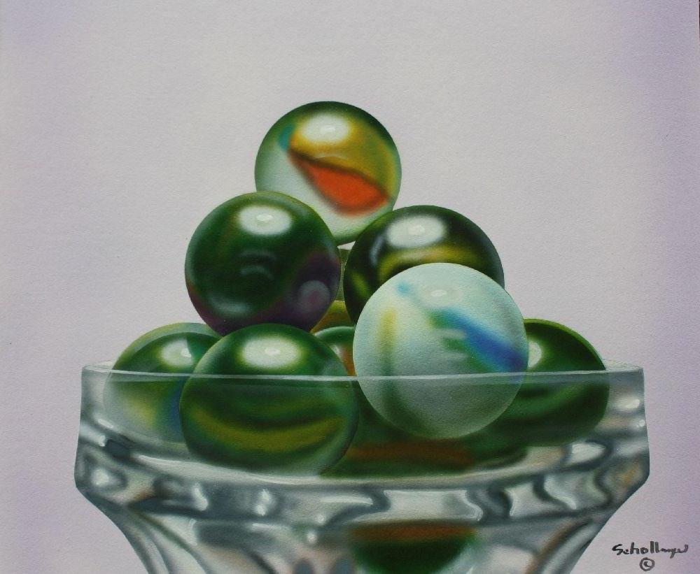 """""""Marbles # 11"""" original fine art by Fred Schollmeyer"""