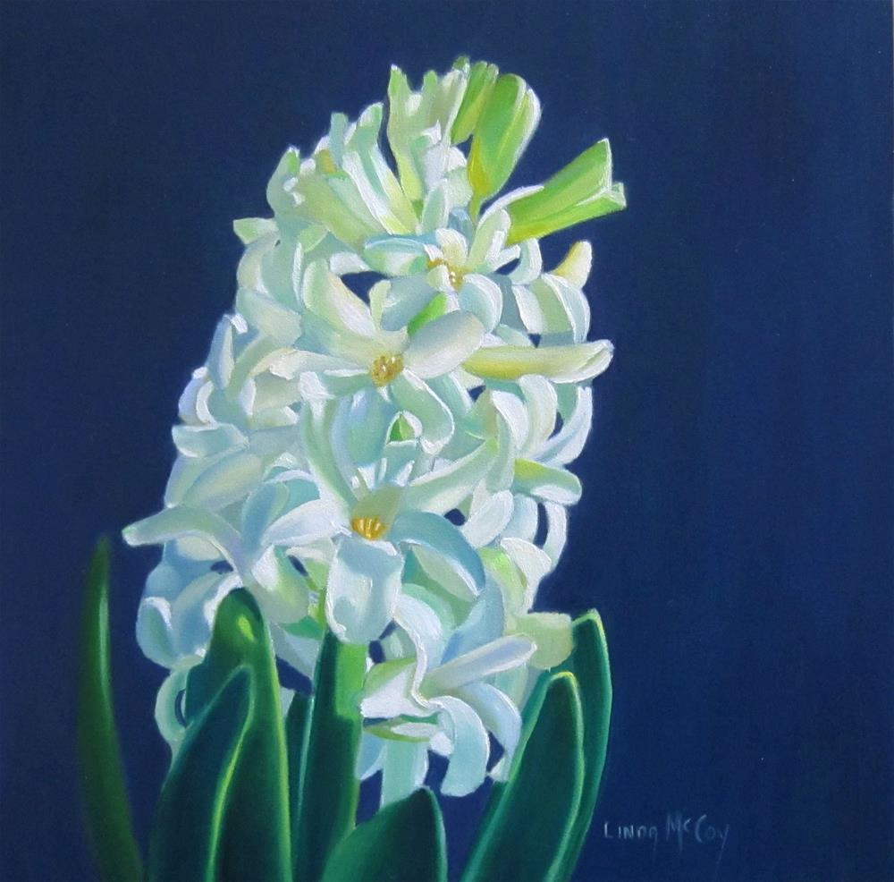 """White Hyacinth"" original fine art by Linda McCoy"