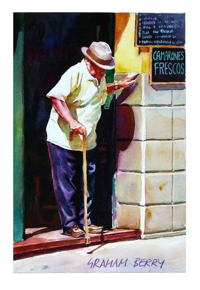 """""""Careful step."""" original fine art by Graham Berry"""