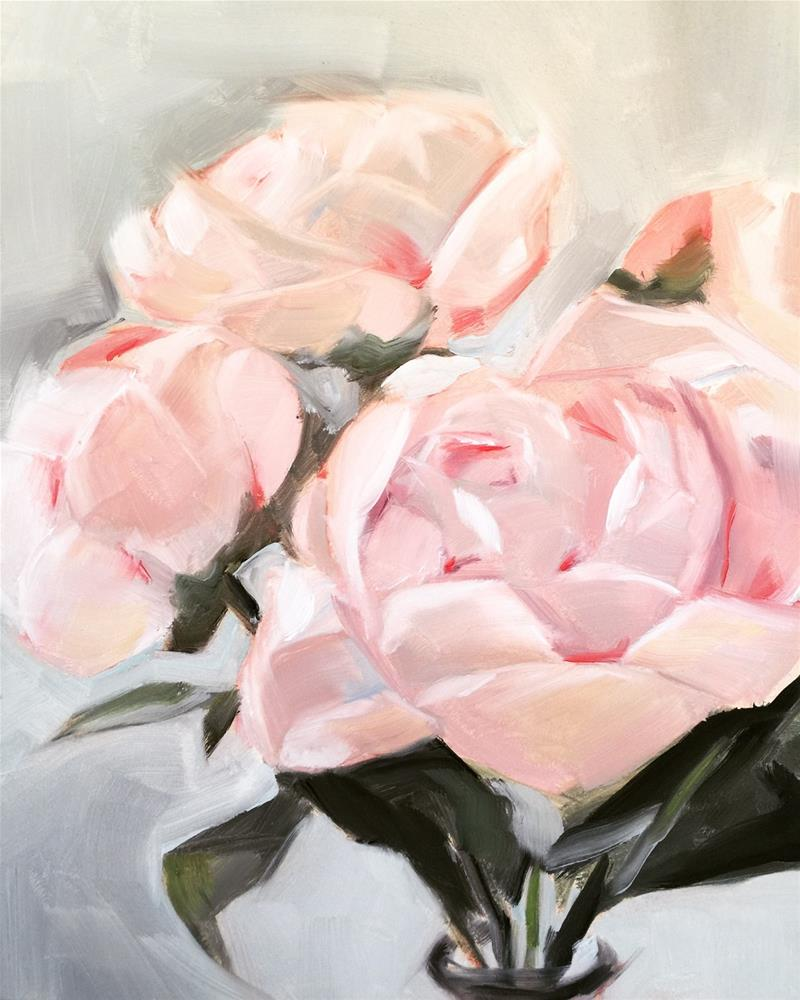 """496 First Peonies"" original fine art by Jenny Doh"