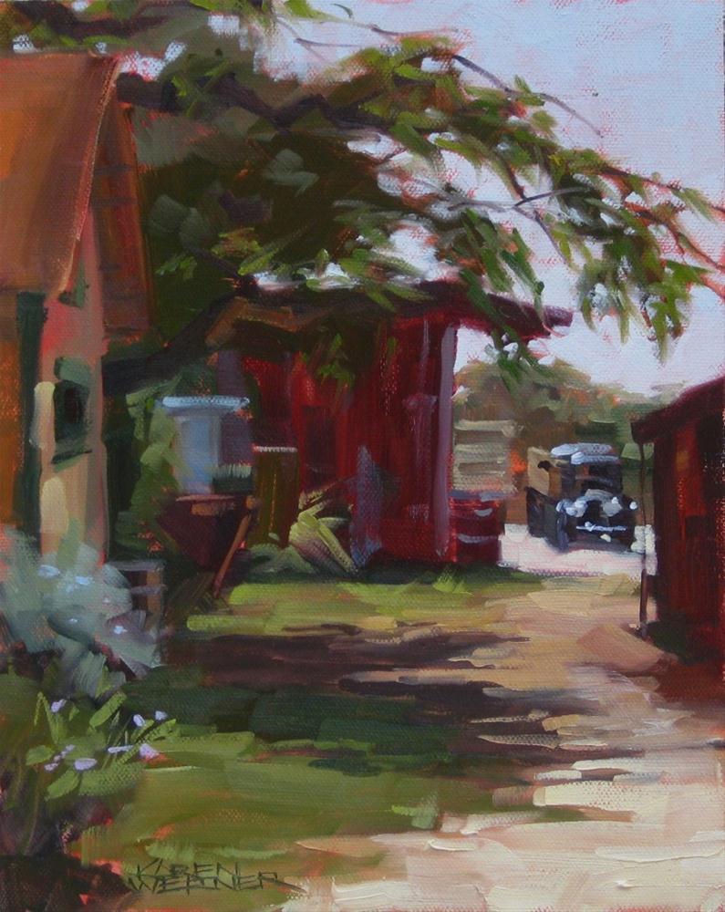 """""""Old Galleano"""" original fine art by Karen Werner"""