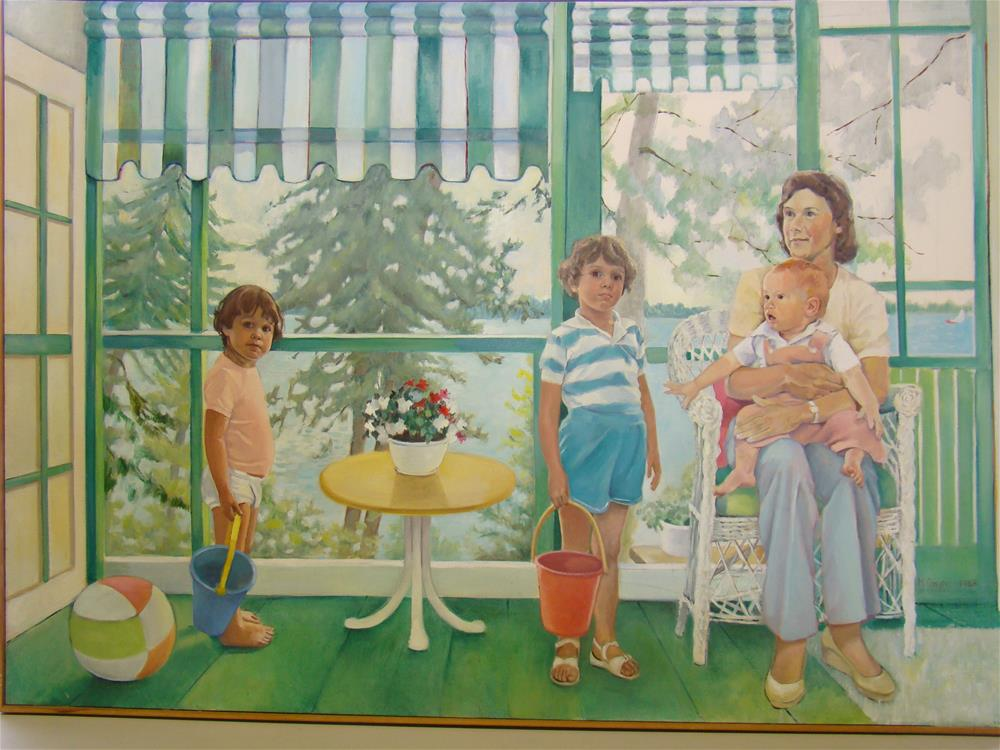 """debbie and children"" original fine art by meribeth coyne"