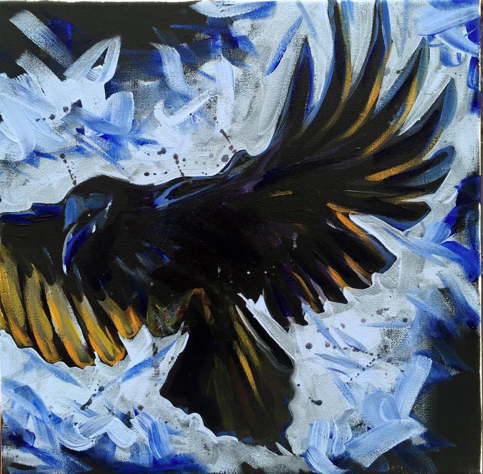 """""""As the Crow Flies"""" original fine art by Lauren Kuhn"""