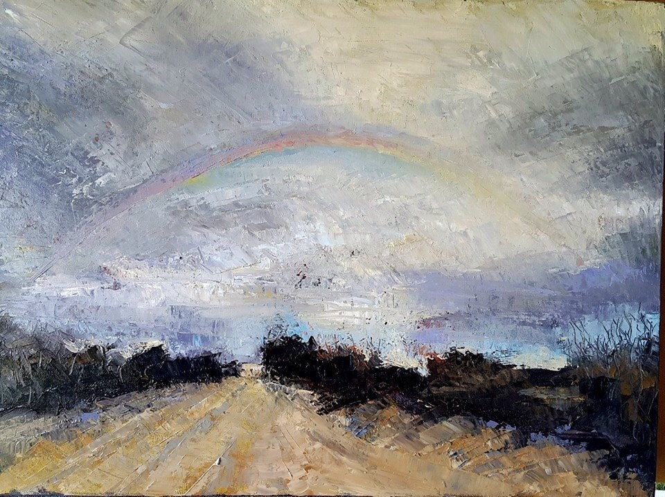 """After the rain"" original fine art by Rentia Coetzee"