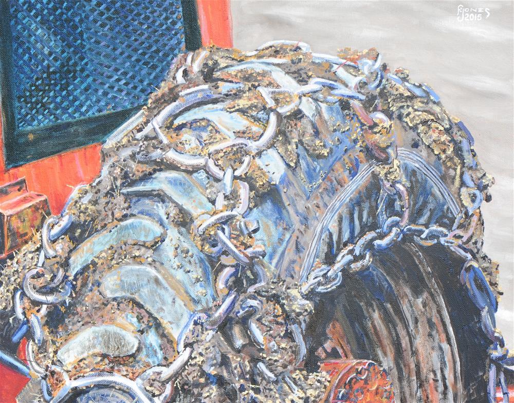 """Traction"" original fine art by Fred Jones"