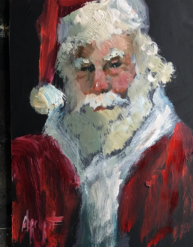 """Santa December 5"" original fine art by Anne Marie Propst"