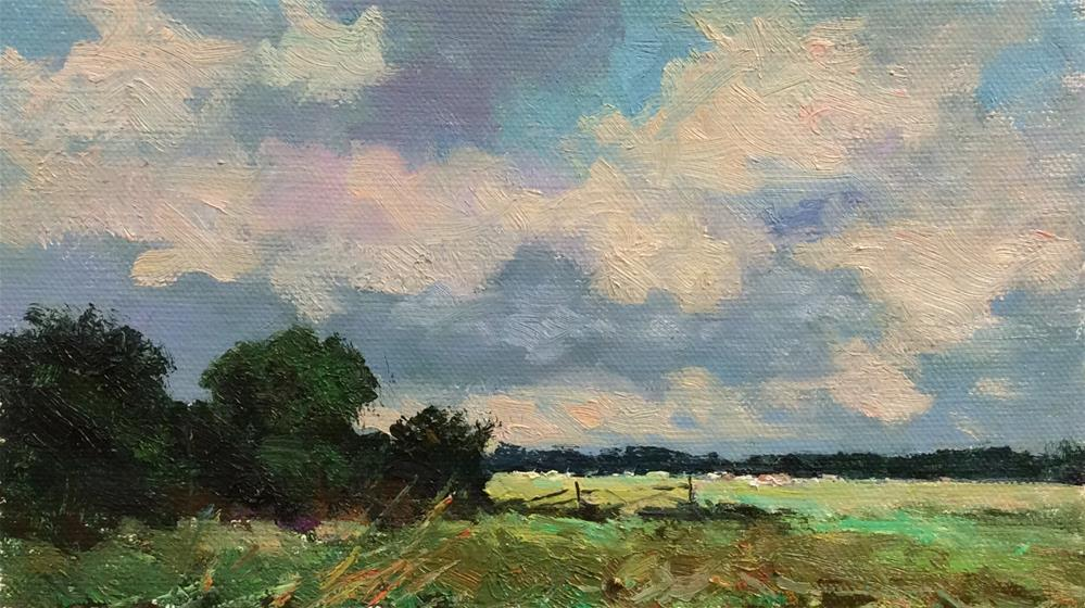"""""""A Day on The Marshes"""" original fine art by John Shave"""