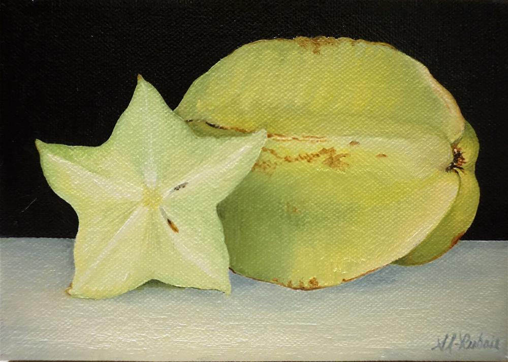 """The fruit challenge star fruit"" original fine art by Catherine Al-Rubaie"