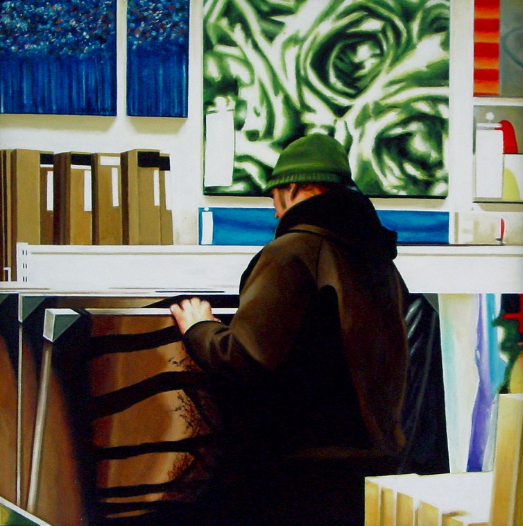 """Ikea Two- Man Browsing Paintings Ikea Store"" original fine art by Gerard Boersma"
