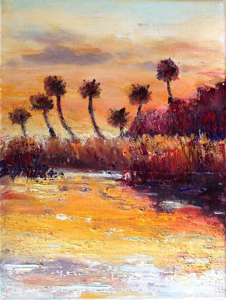 """Evening Glow, Myakka State Park"" original fine art by Judy Usavage"
