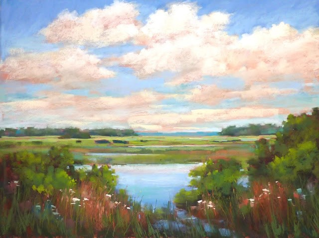 """""""Painting Large Pastels....Any Questions?"""" original fine art by Karen Margulis"""