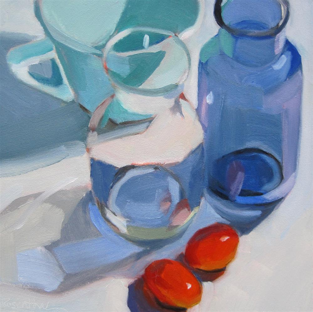 """Bottle Arrangement"" original fine art by Robin Rosenthal"