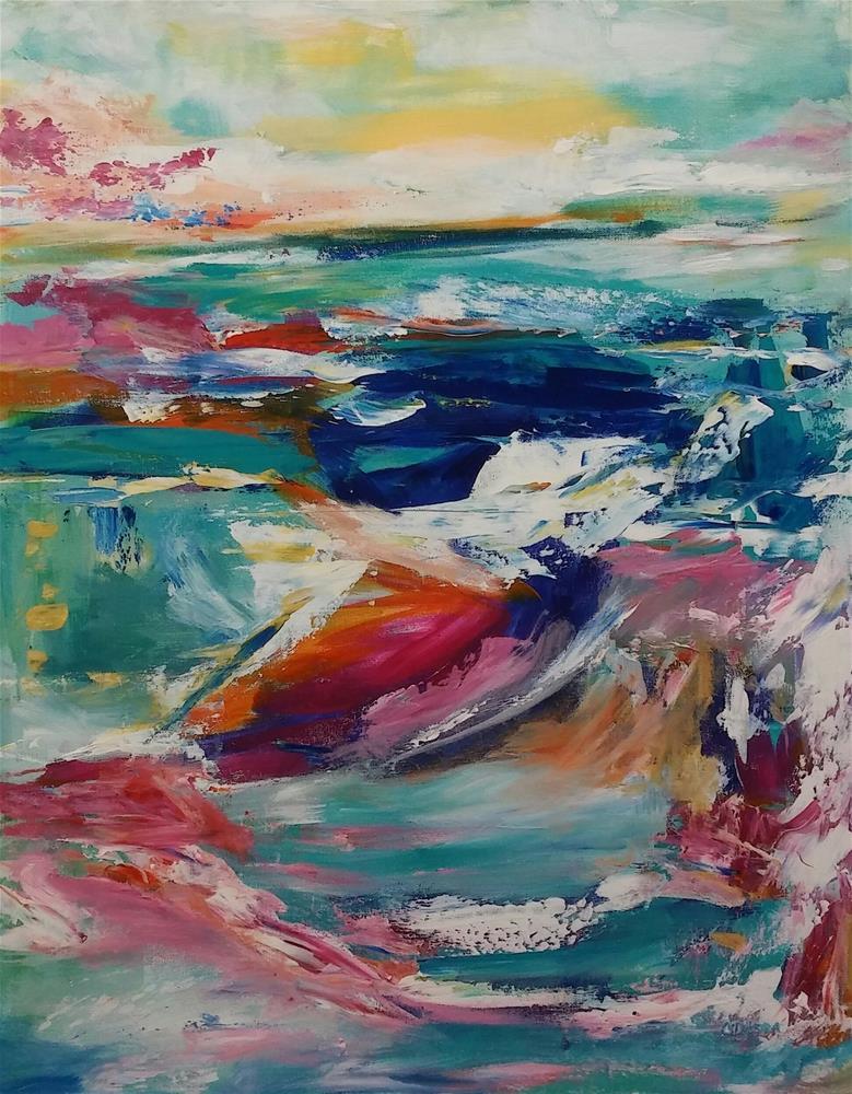 """""""Water Beauty 1"""" original fine art by Cathy Dykstra"""