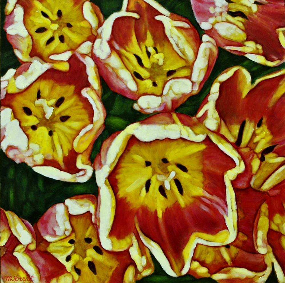 """Tulip Party"" original fine art by Margaret Horvat"