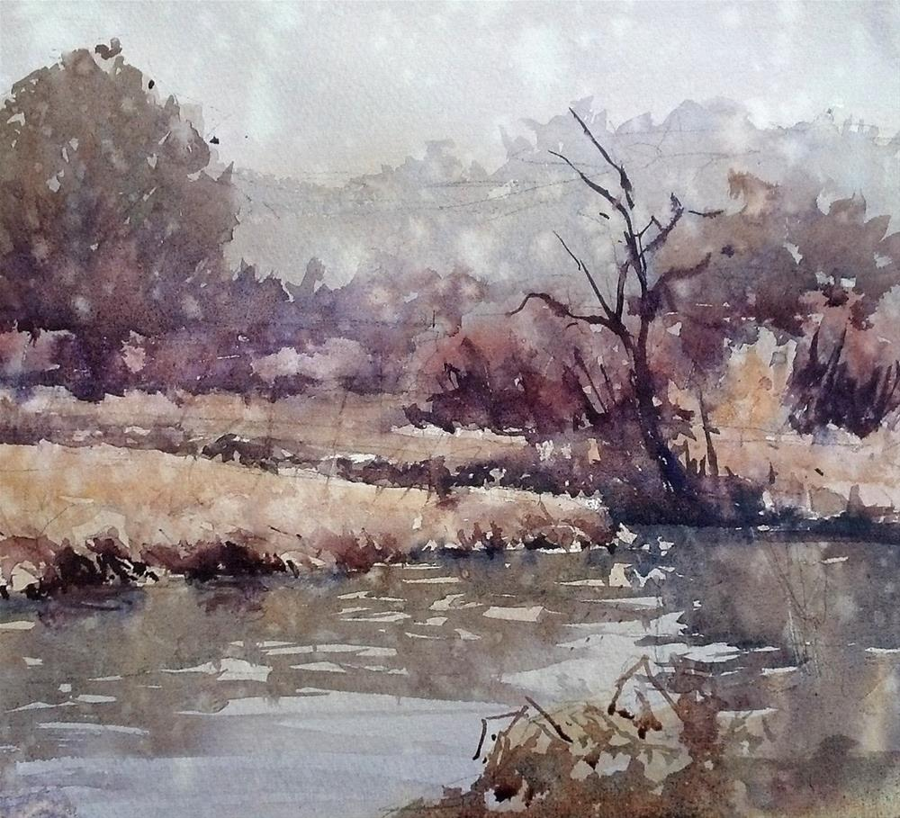 """Millbrook Marsh"" original fine art by Brienne M Brown"
