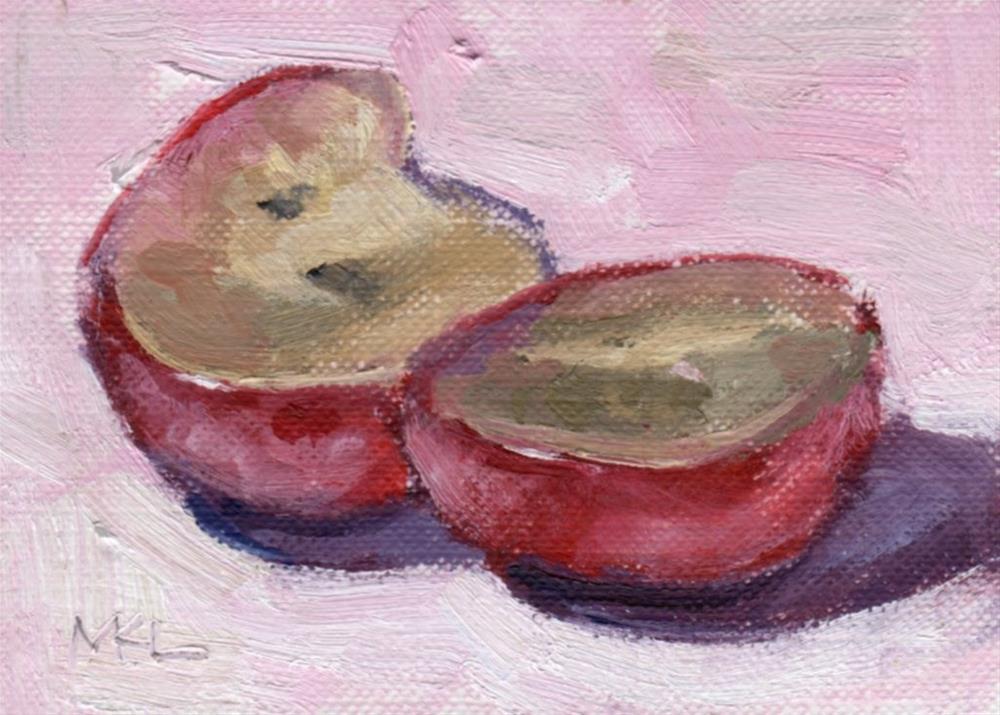 """Sliced Grape"" original fine art by Marlene Lee"